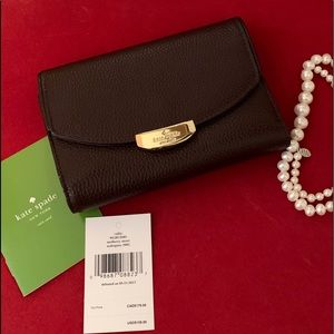 Kate Spade Mulberry St Mahogany Wallet